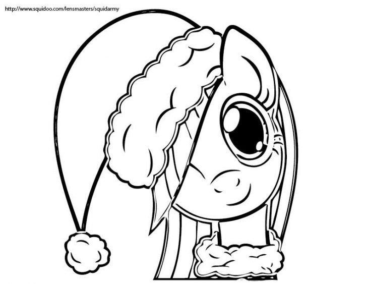 my little pony christmas coloring pages # 7