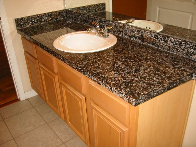 mixed kitchen cabinets painting your countertops makeover solution countertop 4174