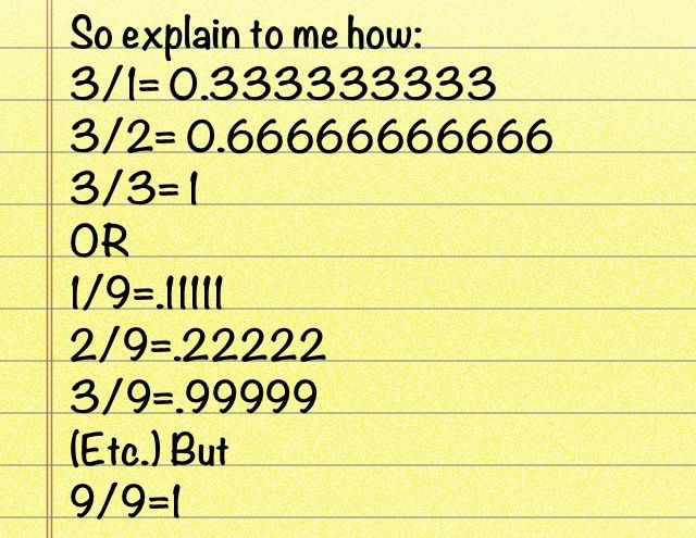 So yeah how again am I sopposed to trust formulas if this is wrong?