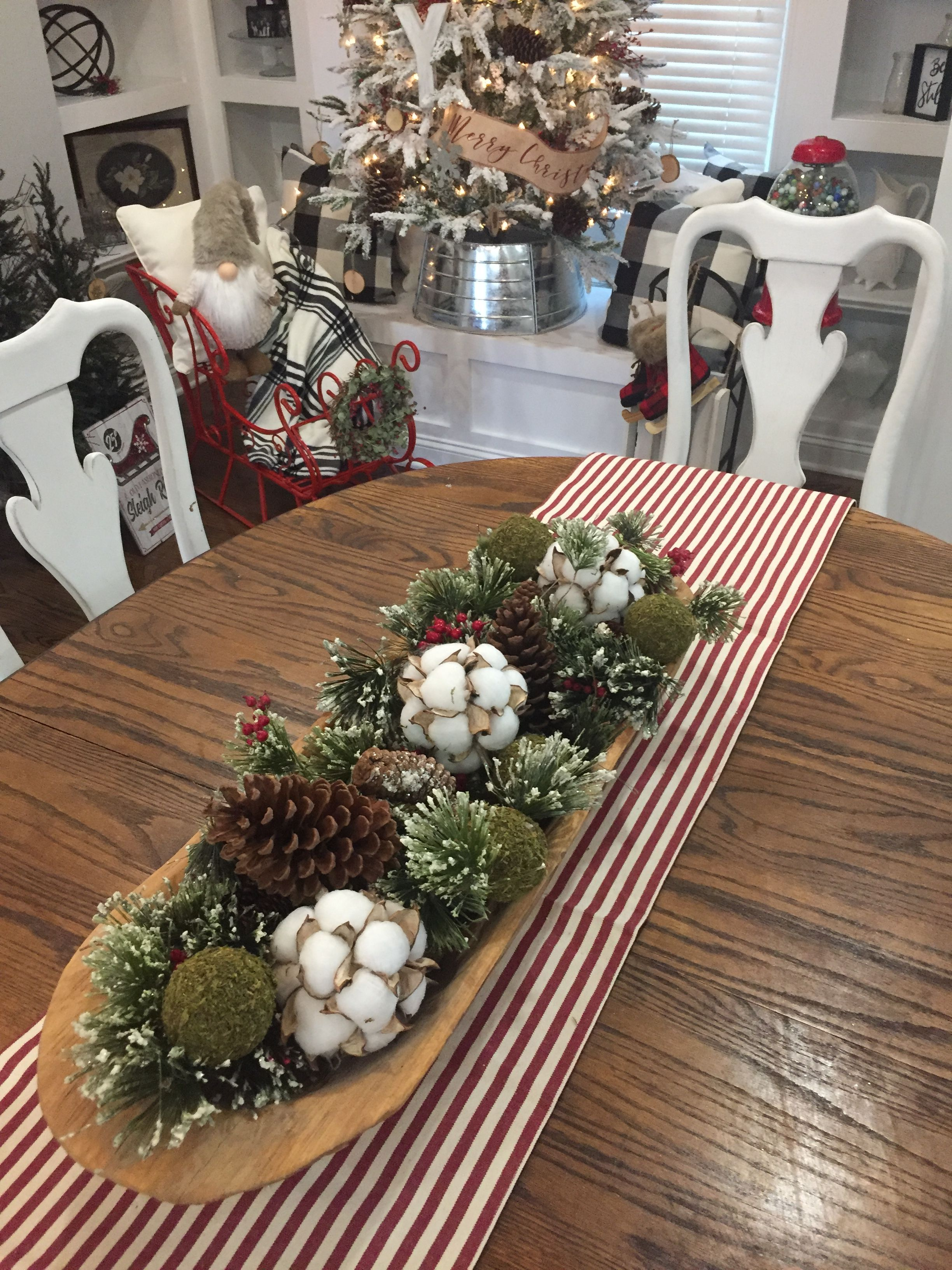 Pin By Marvelisdreyer On Farmhouse Christmas Christmas Dining Room Table Christmas Table Centerpieces Christmas Bowl Decorations