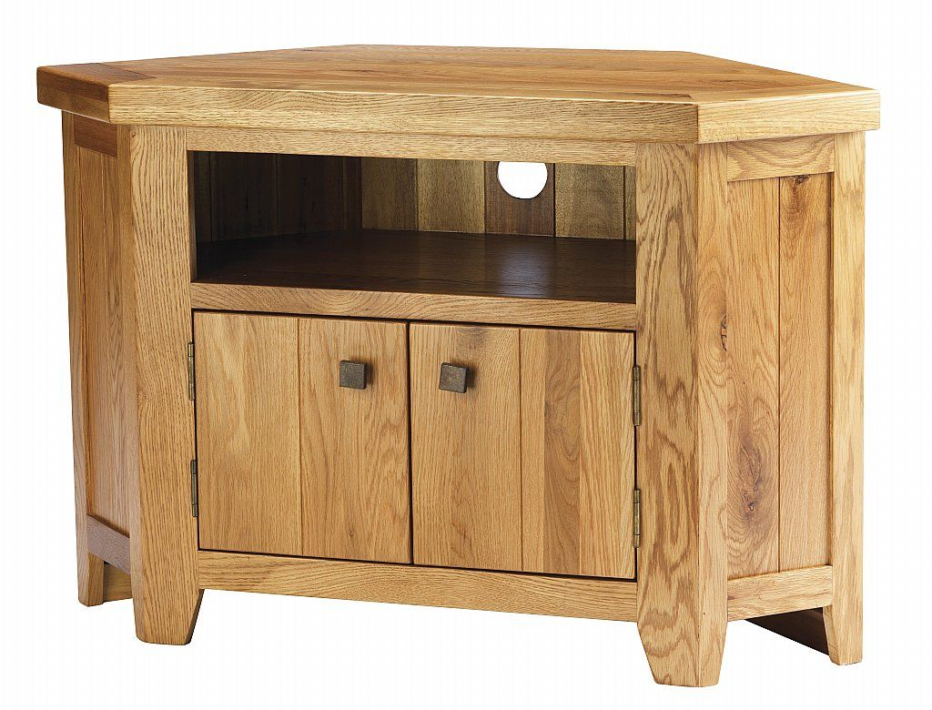 in stock 33df6 9129f YORK solid oak CHUNKY corner tv unit cabinet FURNITURE ...