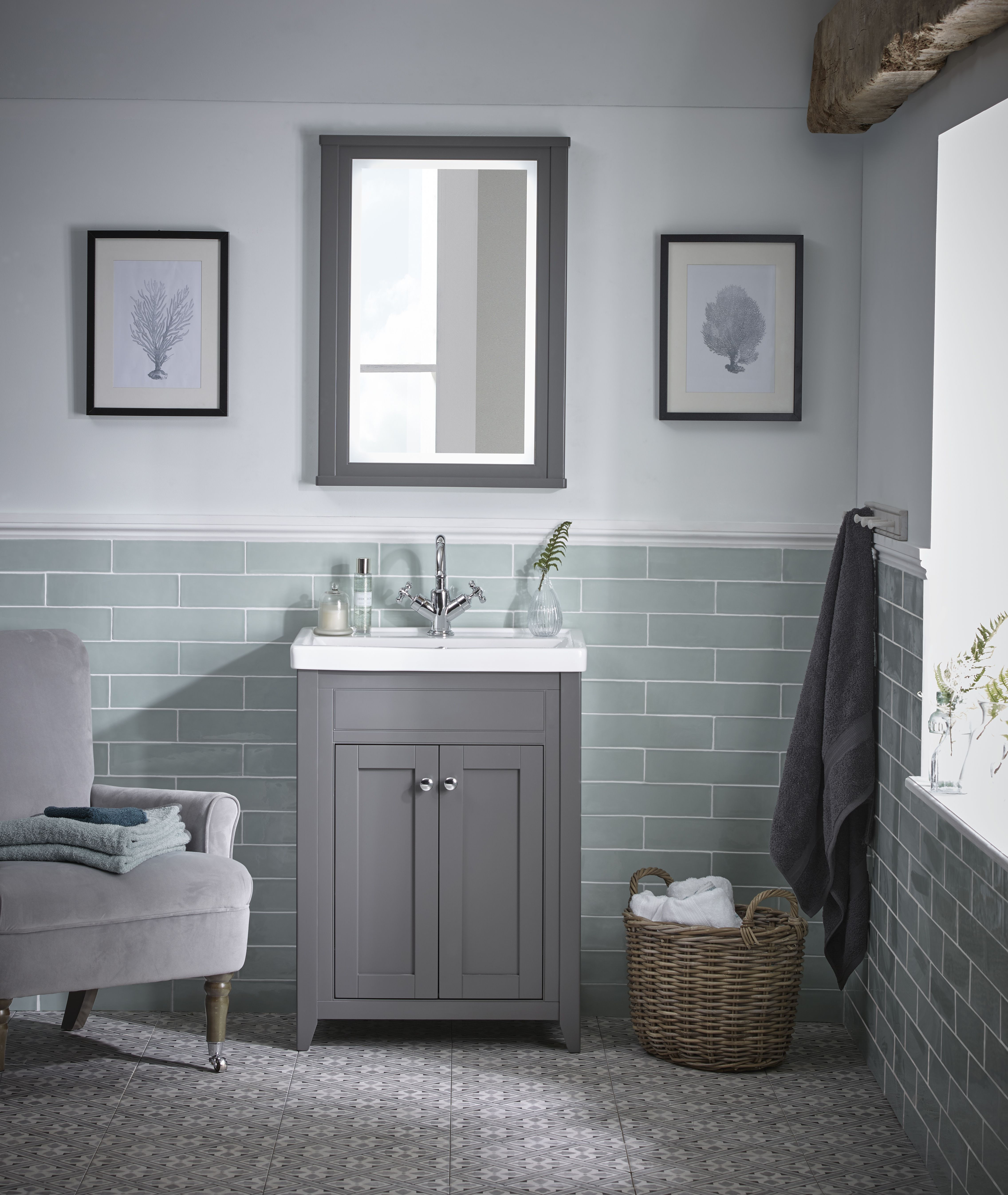 The Laura Ashley Bathroom Collection Consists Of Bathroom Furniture Cabinets And Mirror Grey Bathroom Furniture Laura Ashley Bathroom Bathroom Vanity Makeover