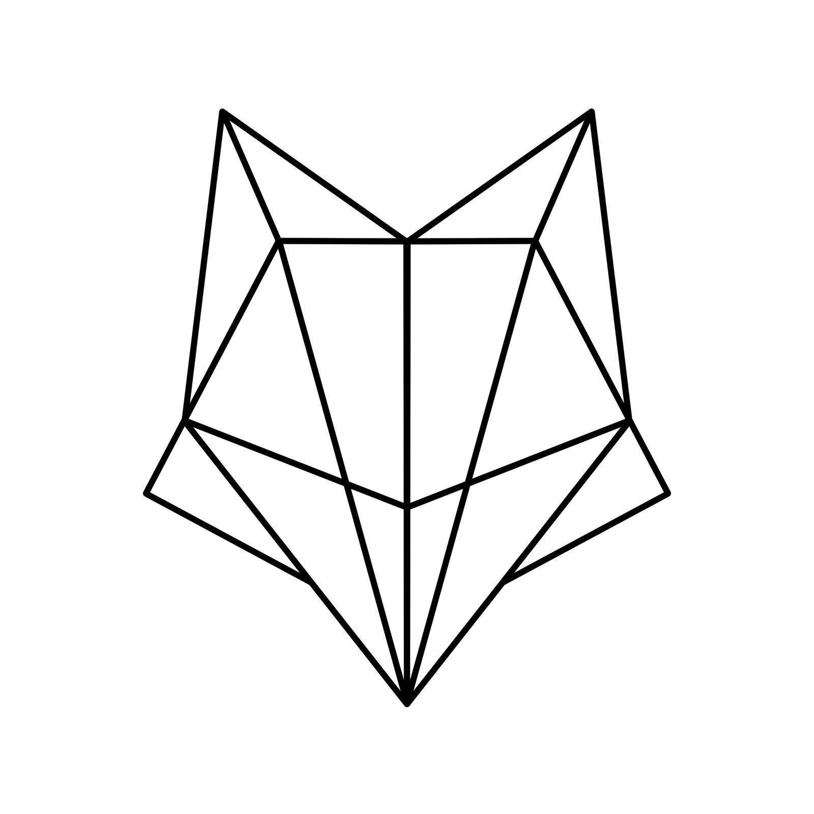 Simple Lines , Simple Fox by LouiseSWY.deviantart.com on