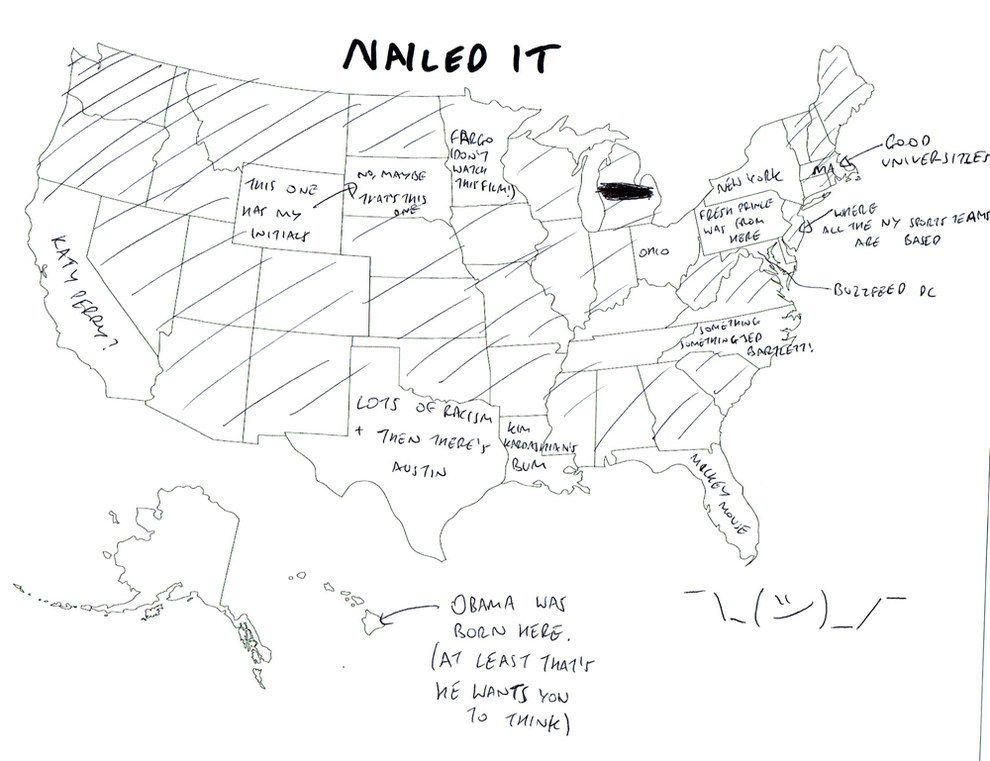 We Asked Brits To Label The United States Again Because Its A - Draw on us map