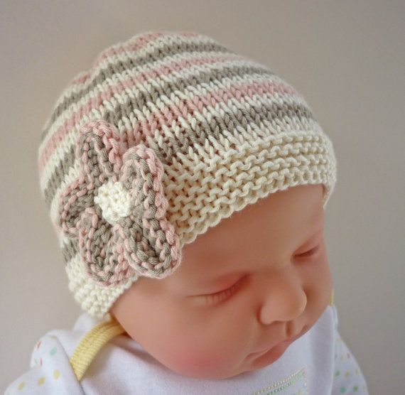 Easy Knitting Patterns Instructions : A quick and easy to knit pattern for baby hat with