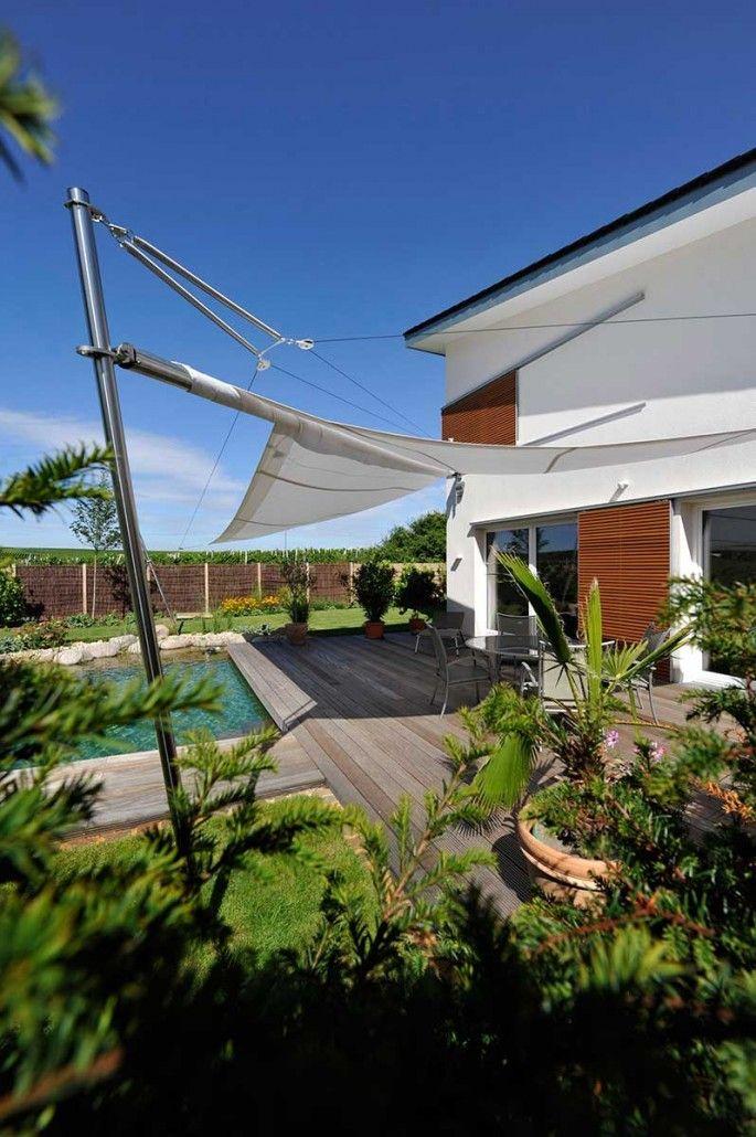 Sonnensegel | Architektenstudio Melzer | sonnenschutz | Pinterest ...