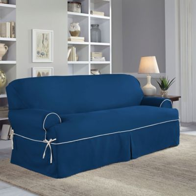 Perfect Fit Classic Twill T-Sofa Slipcover In Navy in 2019 ...