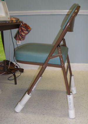 folding chair legs universal design jan p krentz leg extenders craft ideas table