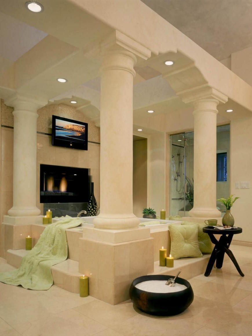 10 Mesmerizing Luxury Bathrooms with Fireplaces That You Will Love ...