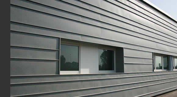 bardage zinc horizontal matieres pinterest bardage fa ades et bardage m tallique. Black Bedroom Furniture Sets. Home Design Ideas