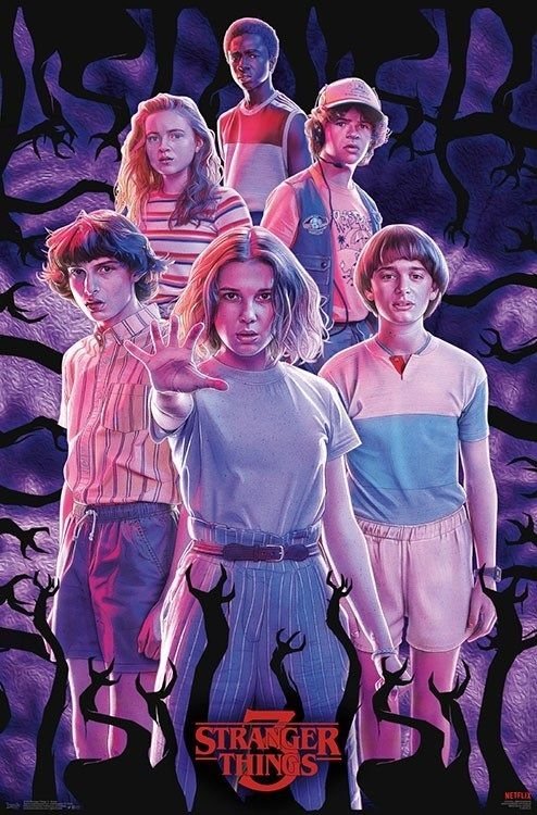 Stranger Things Eleven / Cast Poster as seen on