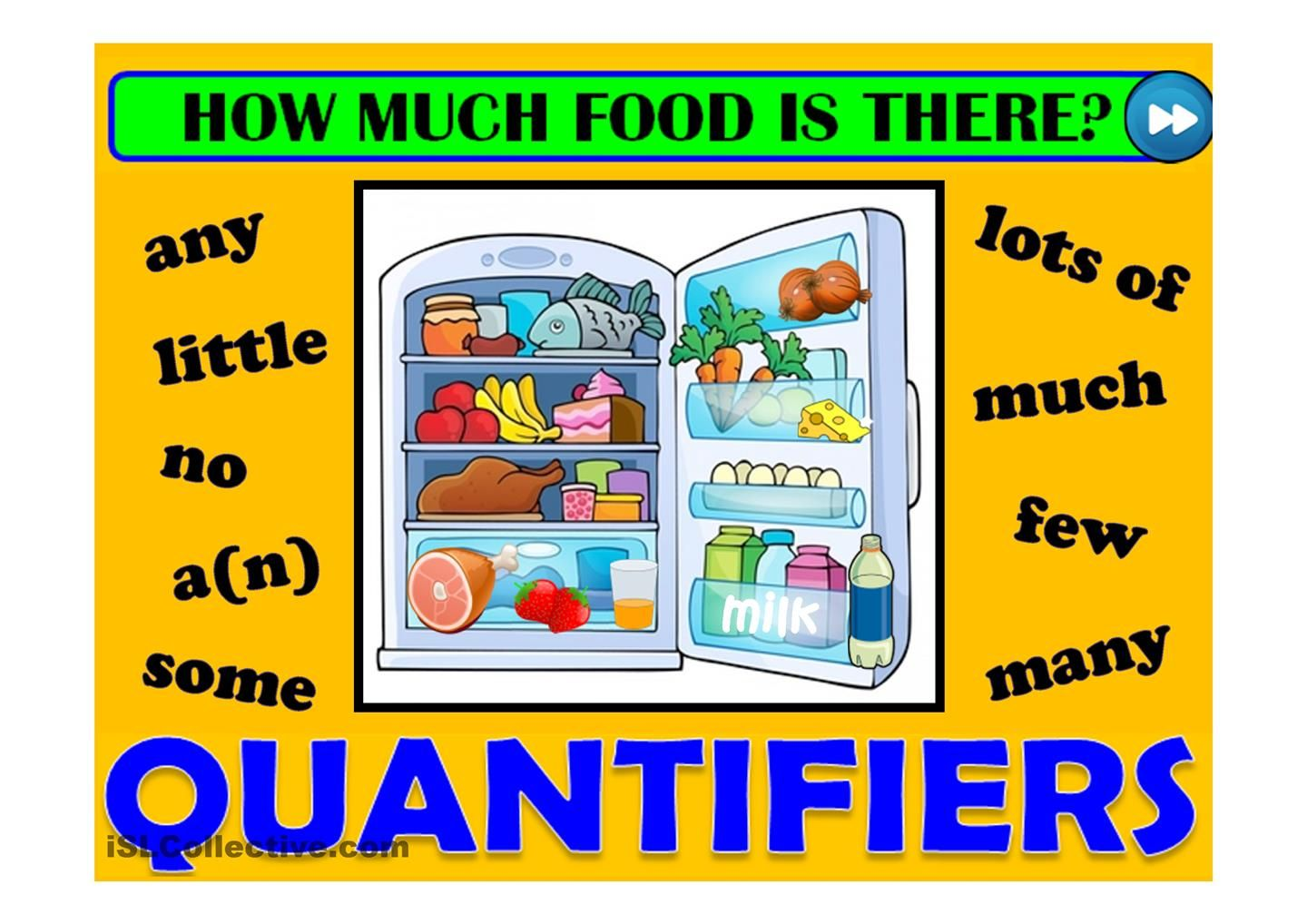 Quantifiers Food Game Esl Powerpoints Of The Day Esl Games