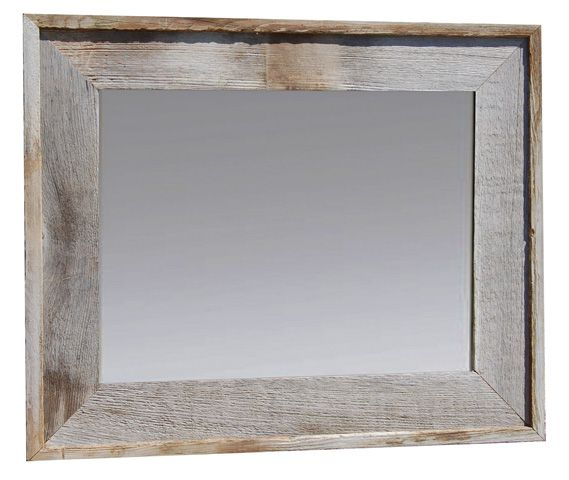 lighthouse barnwood mirror with raised edge 26x30 mybarnwoodframescom barnwood frames - My Barnwood Frames