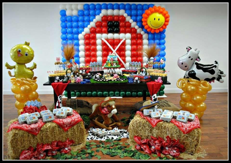 Farm Barnyard Birthday Party Ideas