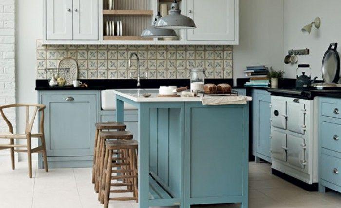 Mooie Eclectische Woonkeuken : Leuke dingen en ideeën lichte keuken met een mooie lichtblauwe