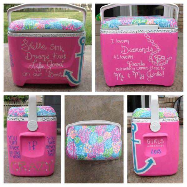 Total Sorority Move Painting A Cooler For Girls Weekend