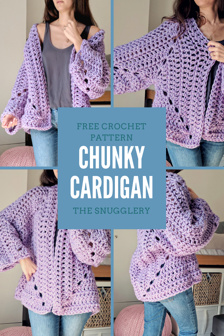 Super Chunky Hexagon Cardigan! A free pattern from The Snugglery ...
