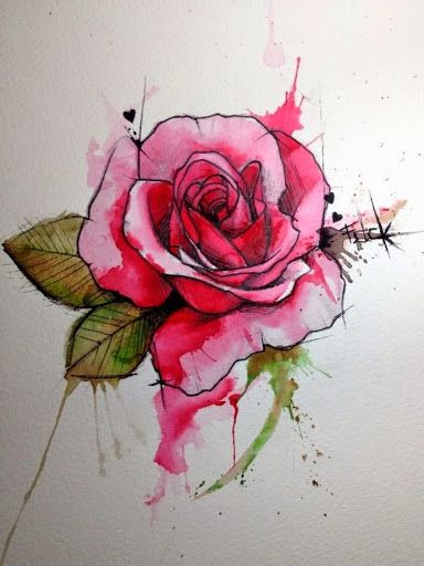 40 Lovely Rose Tattoos And Designs Watercolor Rose Tattoos Rose