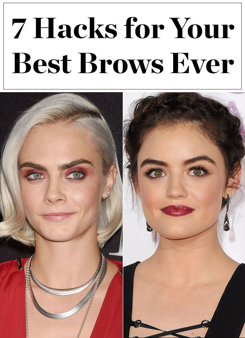 7 Easy Hacks To Make Your Brows Look On Fleek In Honor On National Brow Day Celebrity Eyebrows Beauty Tips For Hair Eyebrow Hacks