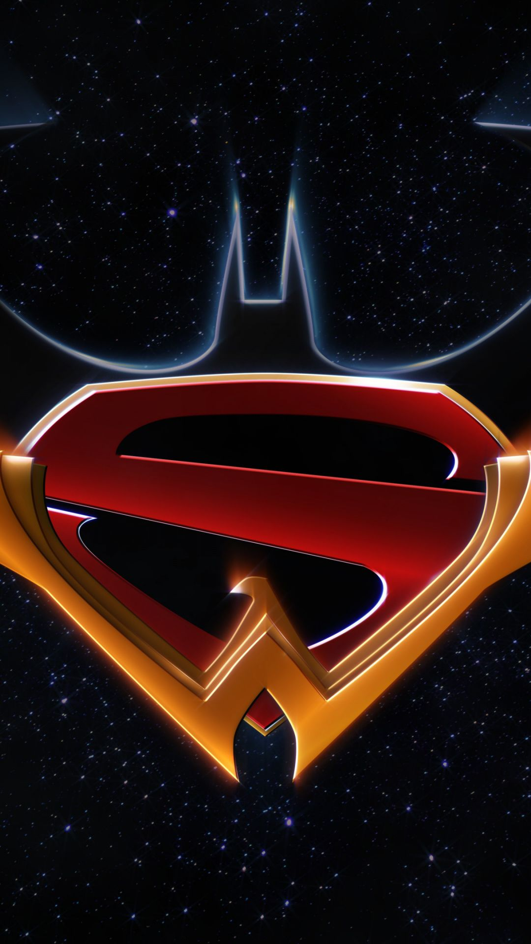 Logo, batman, superman, wonder woman, DC comics wallpaper