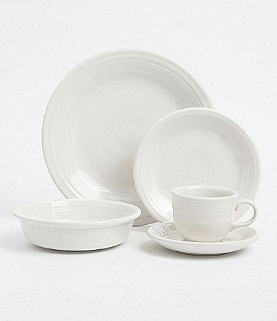 Fiesta White Dinnerware #Dillards & Fiesta White Dinnerware #Dillards | James - Bachelor Pad | Pinterest ...