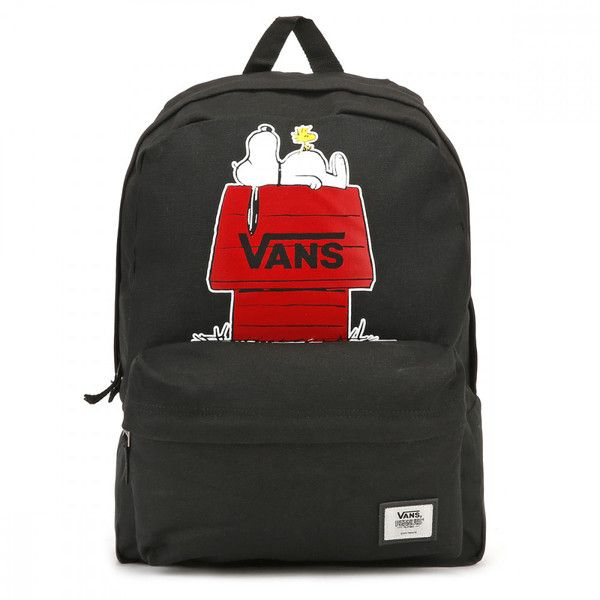 Vans Peanuts Black Realm Backpack (153.390 COP) ❤ liked on Polyvore ... 689f18207cb