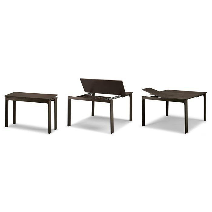 Table Extensible Rallonges Integrees.Console Extensible Integrale 8 Bois Wengue Rallonges
