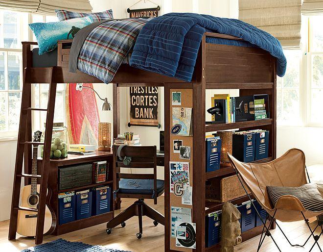 Sleep Study Horizon Bedroom On Pbteen Com Boy Bedroom
