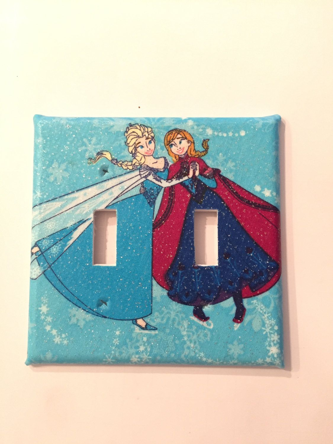 Frozen Blue Light Switch Cover By Tinasthriftytreasure On Etsy