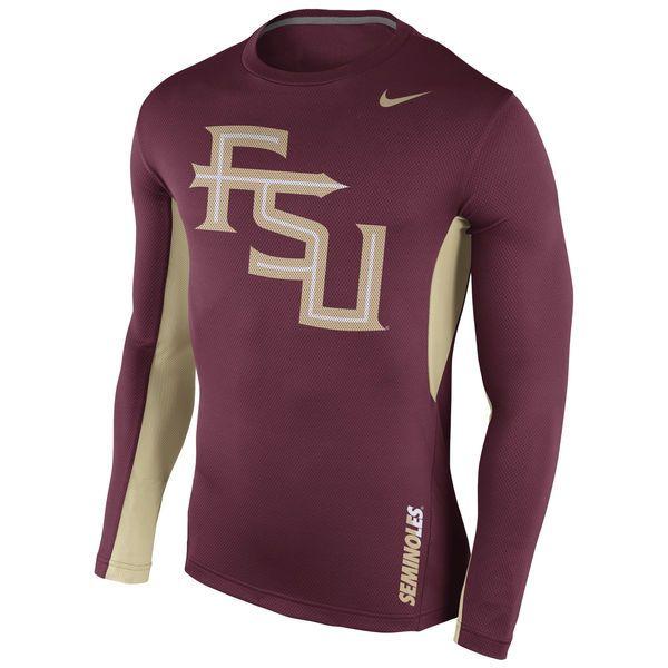 Florida State Seminoles Nike 2015 Sideline Vapor Dri-FIT Long Sleeve Top - Garnet - $37.99