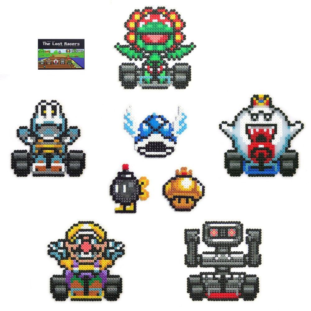 Super Mario Kart Pixel Art Perler Bead Mario Super Mario Kart Mario