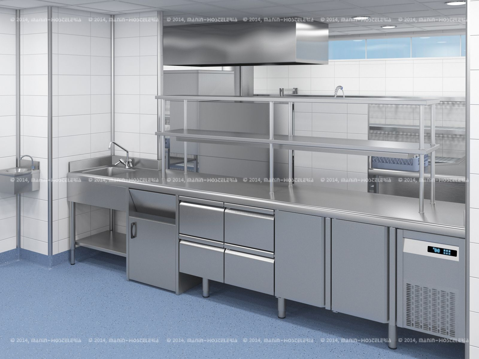 dise o de cocina industrial en 3d y cad con rea