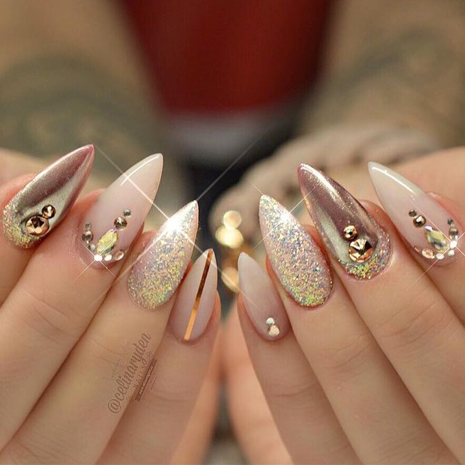 21 Popular Stiletto Nails Designs From Pinterest That Will Catch