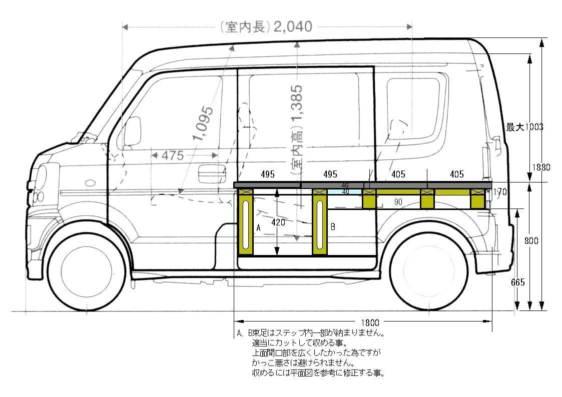 Every H Kai01 Jpg エブリィ カスタム 軽 自動車 キャンピングカー