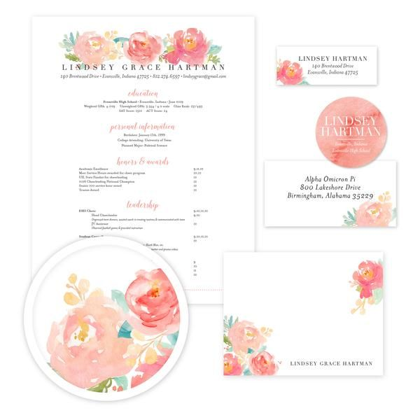Peony Garden Sorority Packet    Our complete sorority packets - cover letter for mailing resume