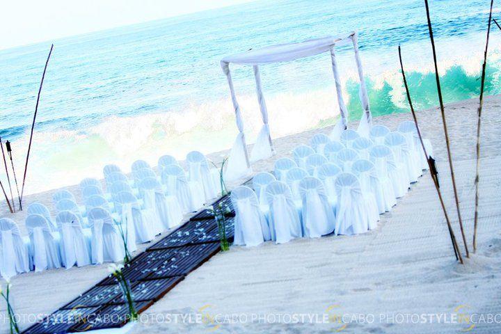 Beach wedding ceremony at The Westin Resort & Spa, Los Cabos. #Cabo #Mexico
