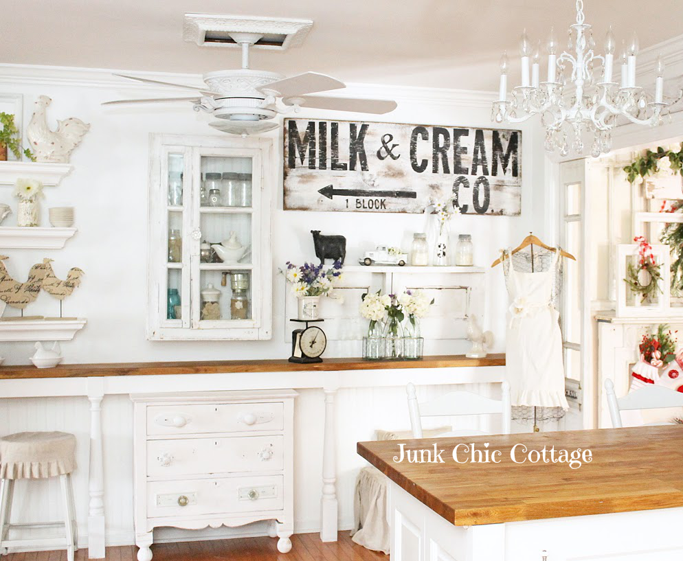 The Fixer Upper Farmhouse Kitchen Look | Farmhouse kitchens, Junk ...