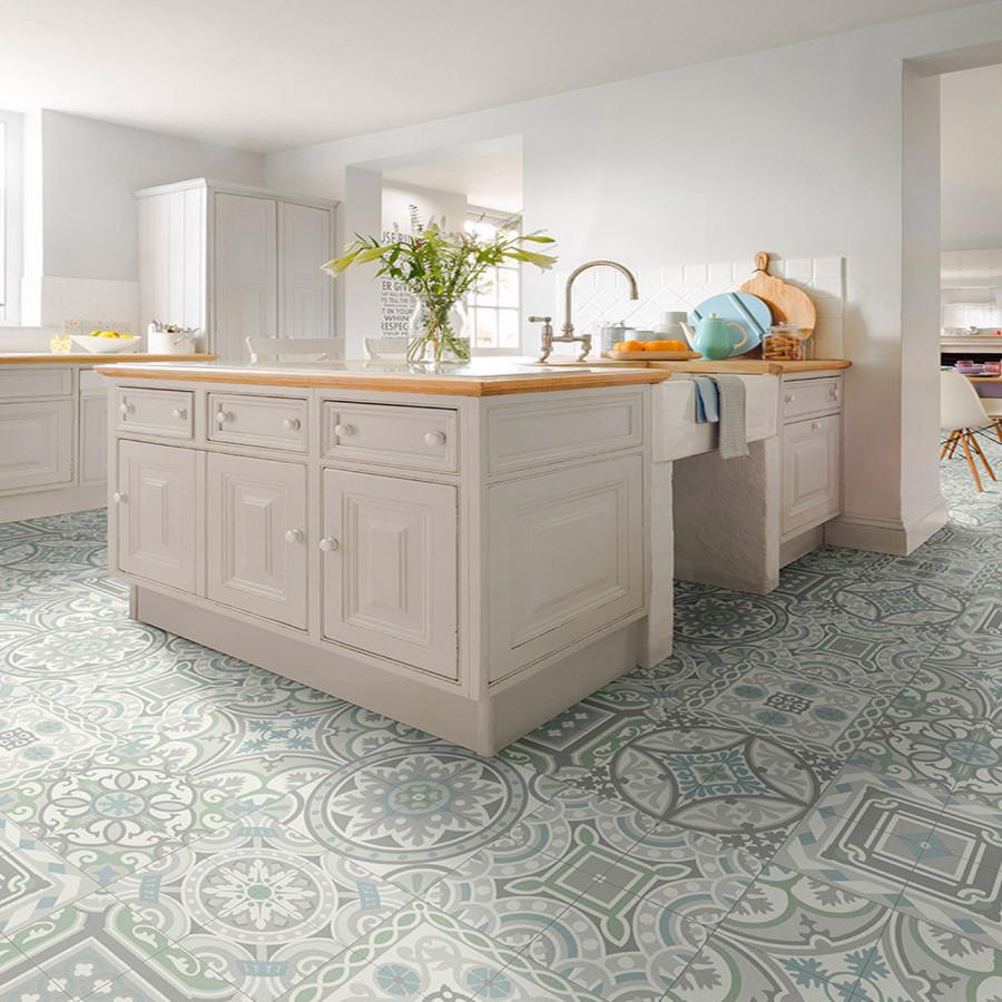 T82 Tile Effect Anti Slip Vinyl Flooring Kitchen Flooring Inexpensive Flooring Grey Wood Floors Kitchen