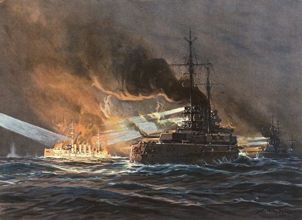 GERMAN U-BOAT /& SINKING SHIP WWI WORLD WAR 1 MILITARY ART PAINTING CANVAS PRINT