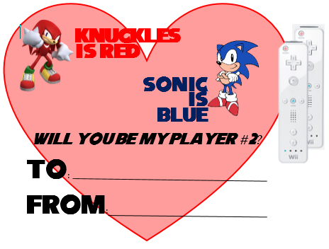 Sonic Knuckles Valentine S Day Card Sega Valentines Day