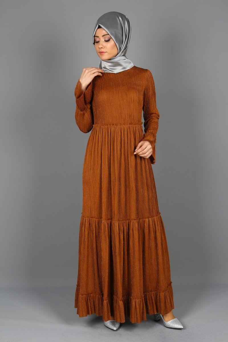 Eymina Piliseli Tesettur Kat Kat Elbise Modelleri Elbise Elbise Modelleri The Dress