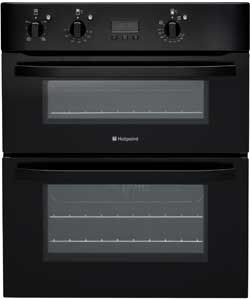 Hotpoint UH53KS Under Counter Double Electric Oven Black