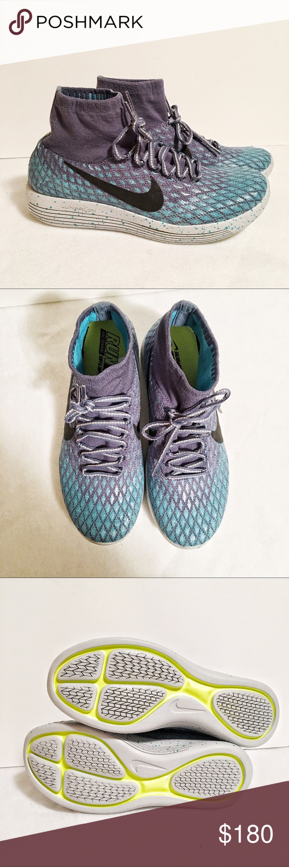 online retailer b1edd a759a Nike Lunarepic Flyknit shoe NWT! Water-repellent mid-rise ...