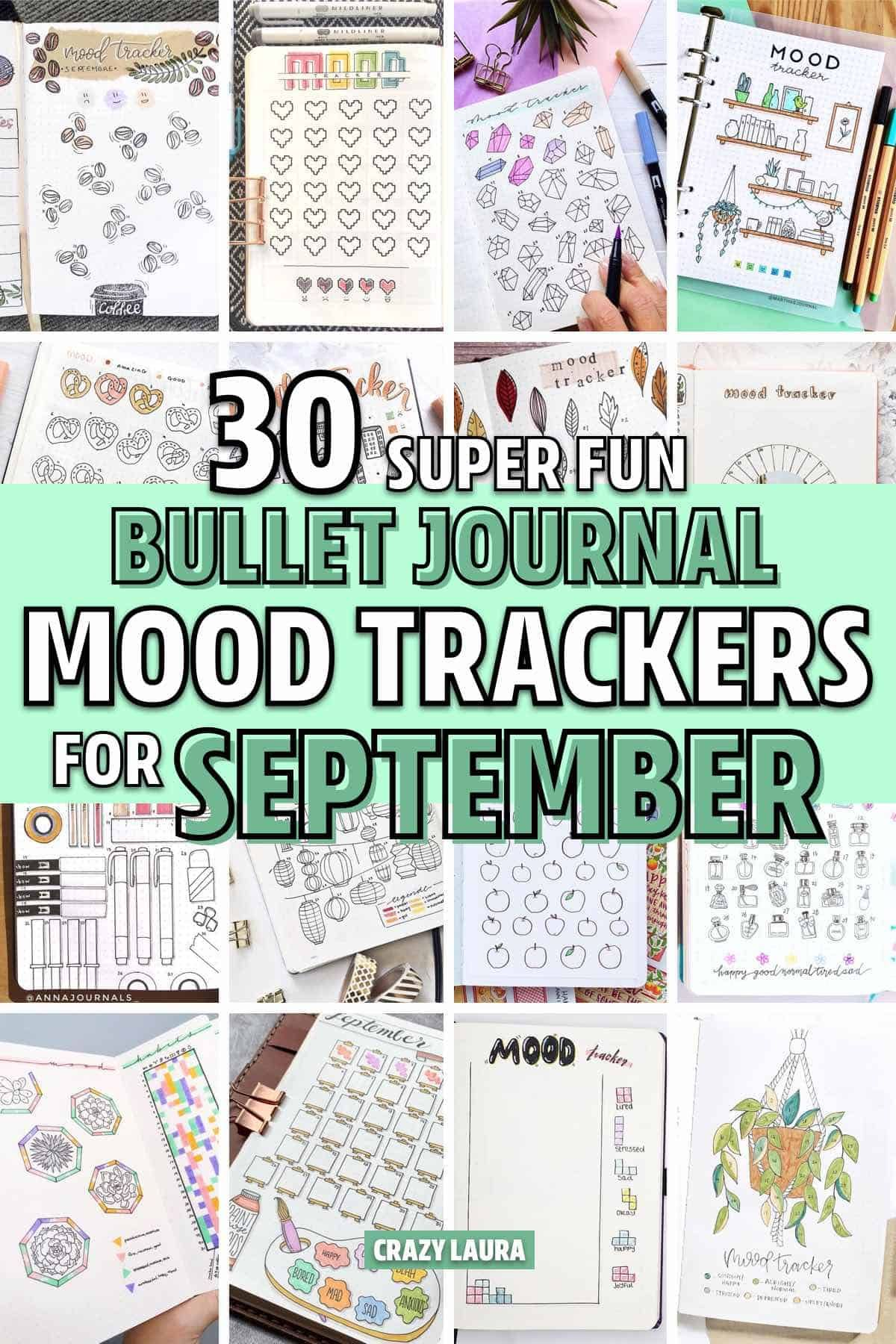 30 Best September Mood Tracker Ideas For Bullet Journals En 2020