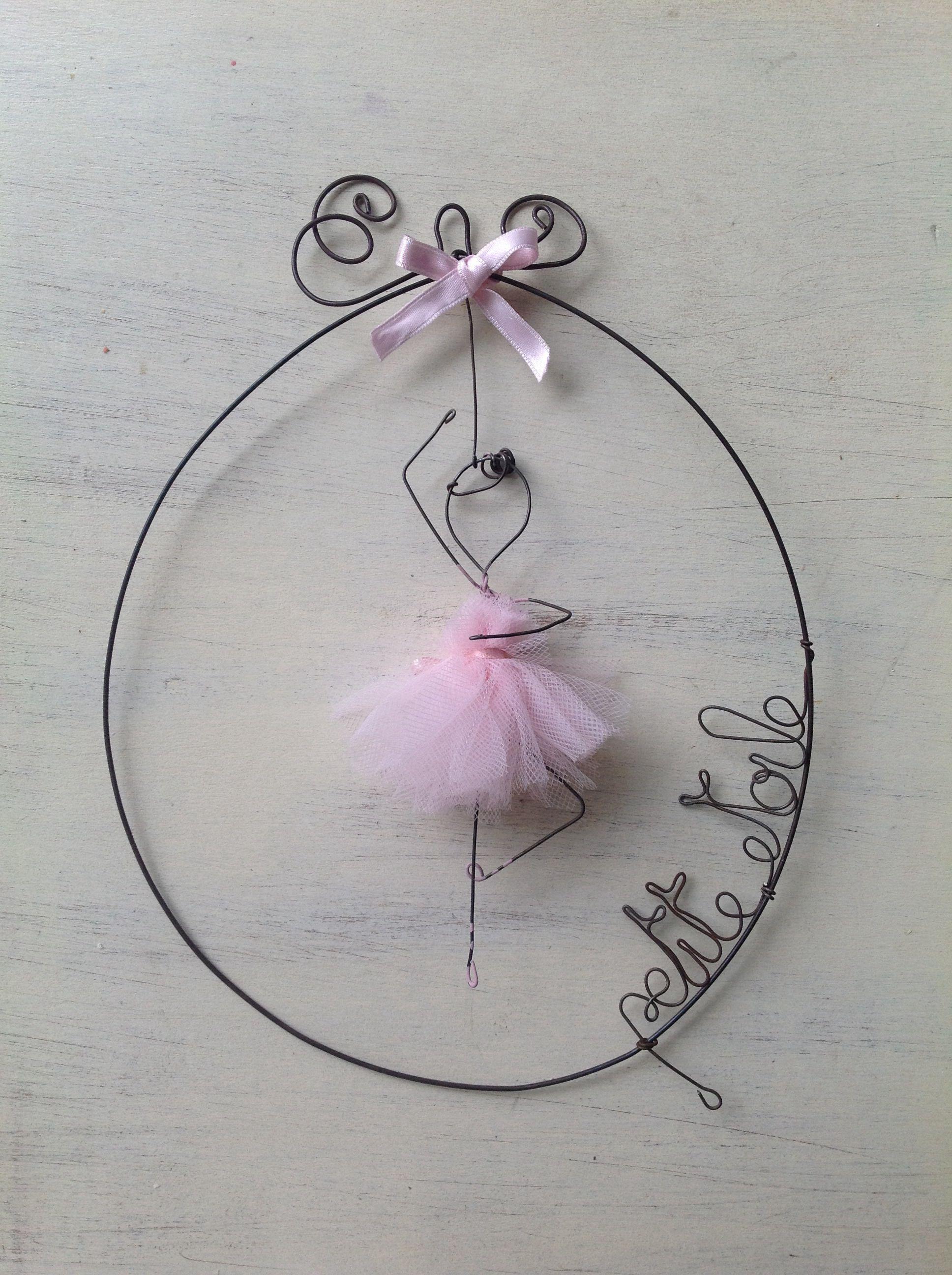 Pink ballerina wire art fil di ferro | craft projects | Pinterest ...