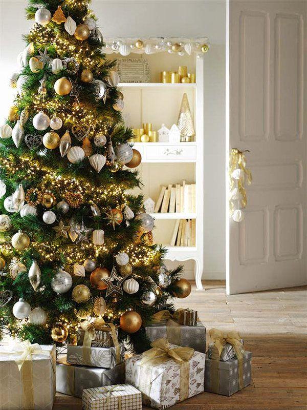 Cómo Adornar Tu árbol De Navidad árbol De Navidad Dorado