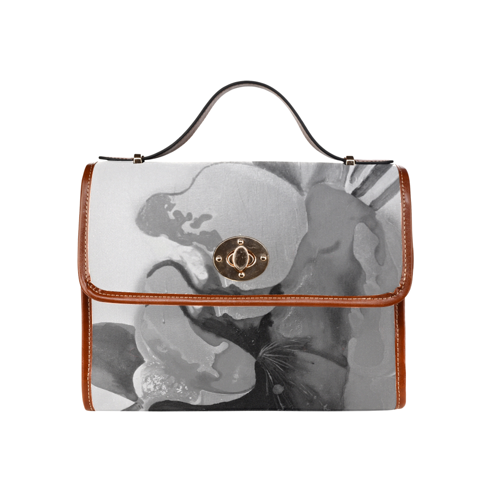 Burn the Flowers for Fuel grey Waterproof Canvas Bag/All Over Print (Model 1641)