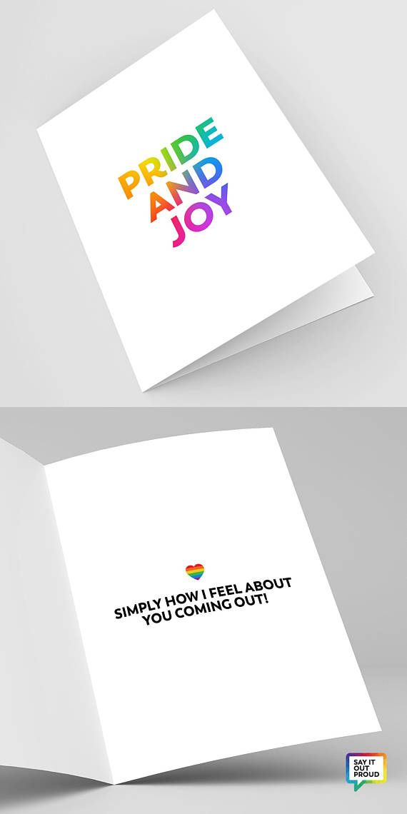 Coming Out Card Card for Expressing LGBTQ Pride Support Encouragement