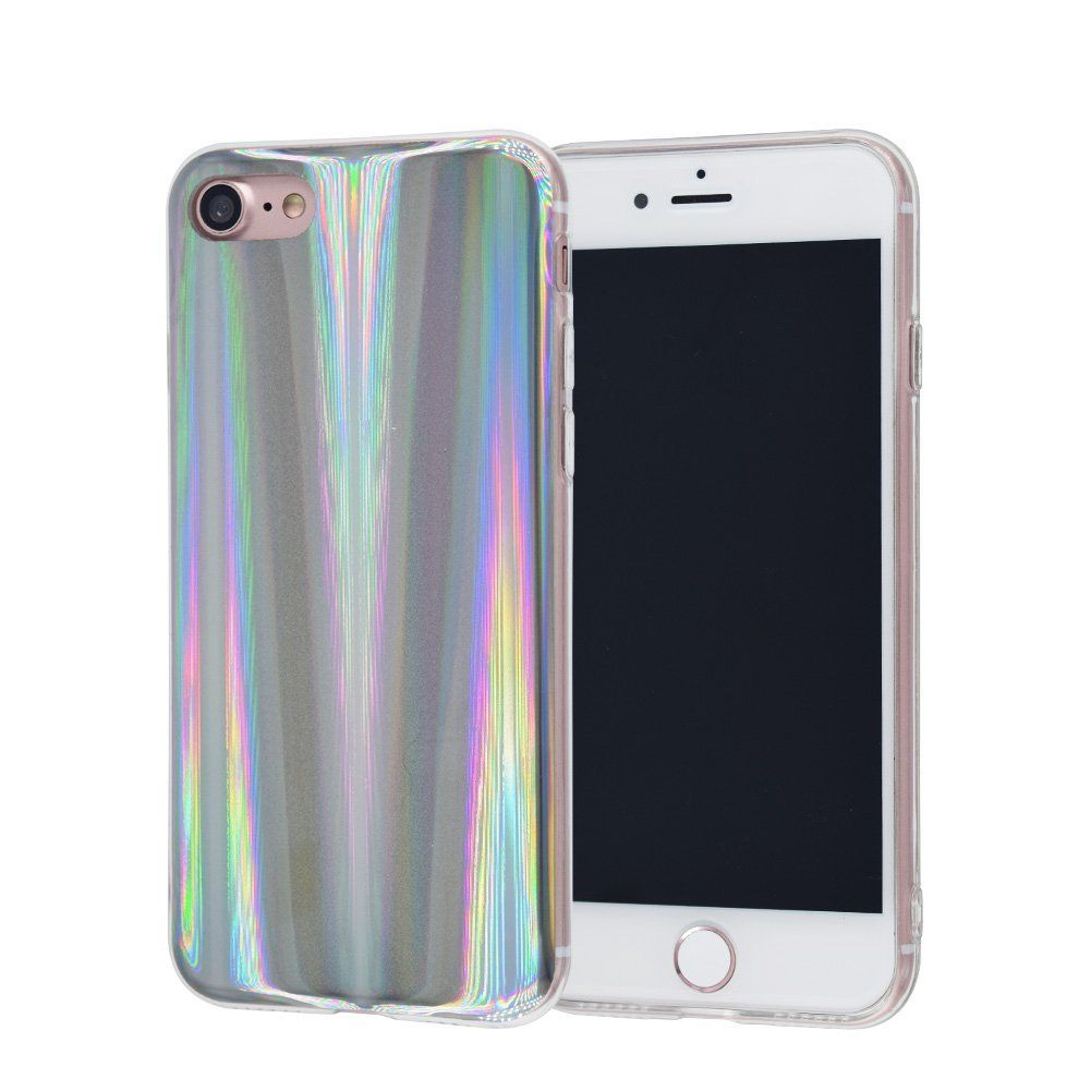 iPhone 8 Plus/7 Plus Case, FACEVER Psychedelic Holographic Rainbow ...