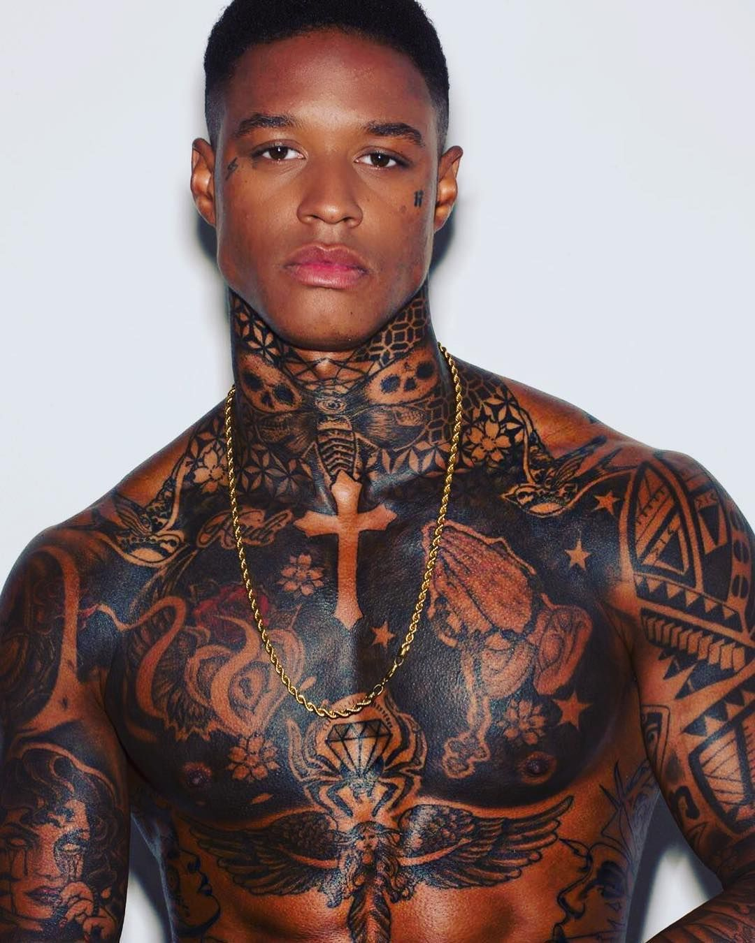 Black Men With Tattoos : black, tattoos, Tattoo, Decoration